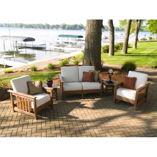 POLYWOOD Mission 5 Piece Patio Set PWMISSIONSET4