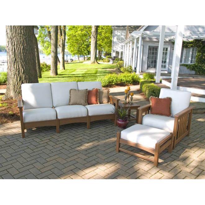 Polywood 174 Mission 4 Piece Sofa Set Pw Mission Set5