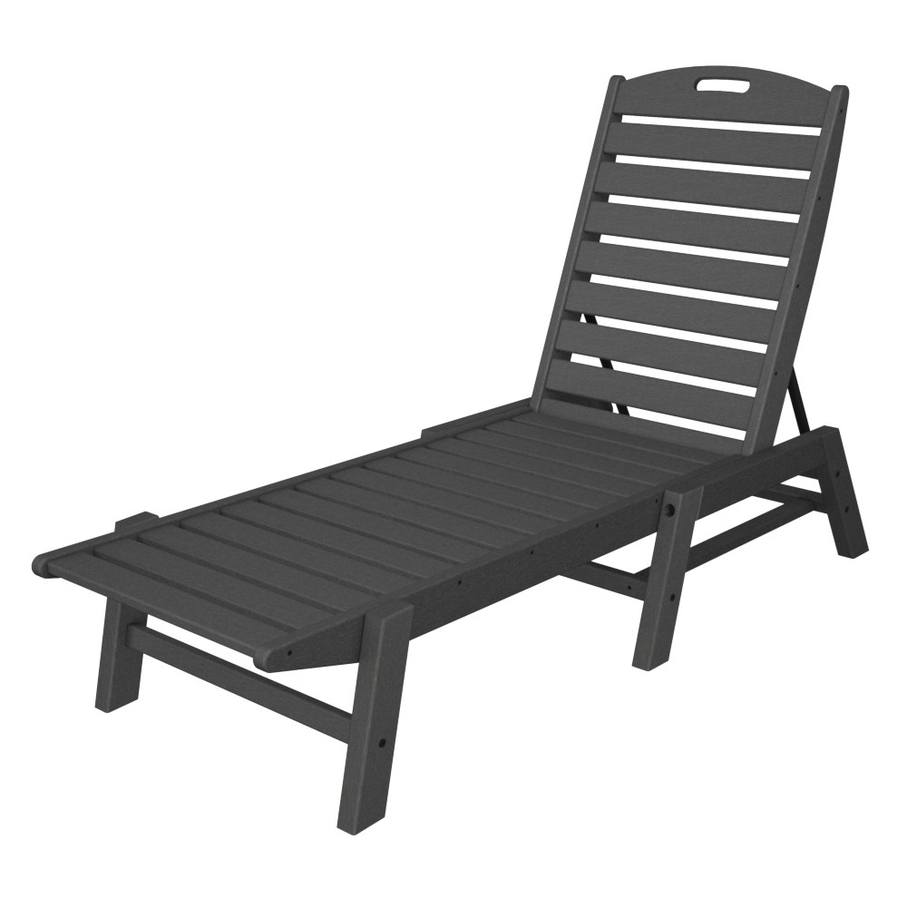 polywood® nautical armless chaise  nac - polywood nautical armless chaise  nac