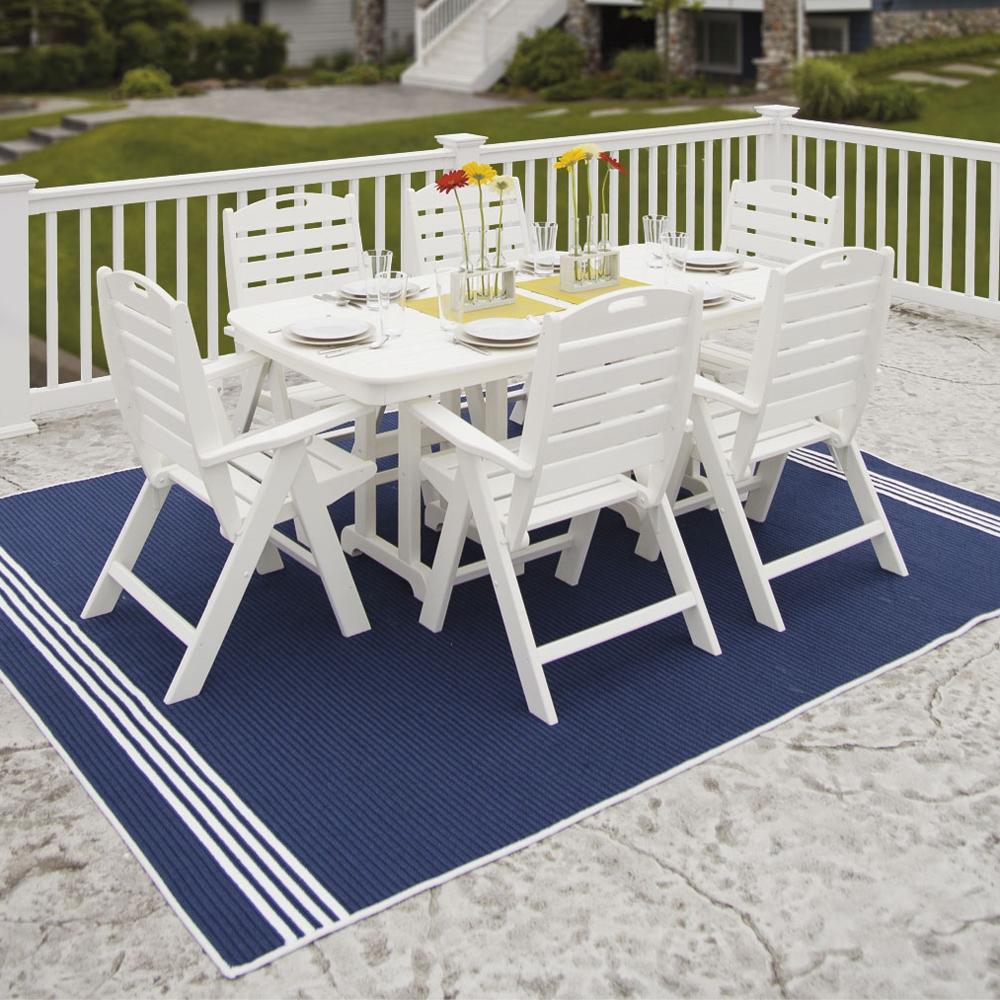 7 piece patio dining set. PolyWood Nautical 7 Piece Patio Dining Set - PW-NAUTICAL-SET3