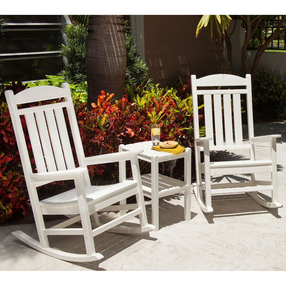 PolyWood Presidential Rocker 3 Piece Patio/Porch Set - PW-ROCKER-SET1