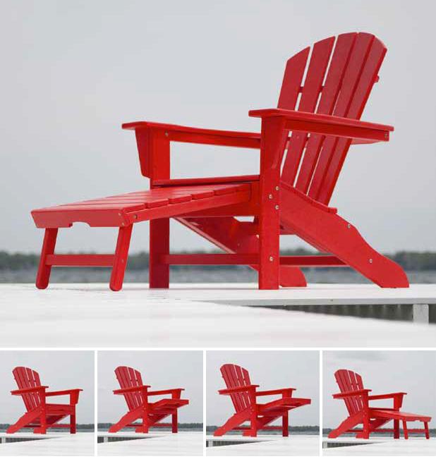 Polywood 174 South Beach Ultimate Adirondack Chair Hna15