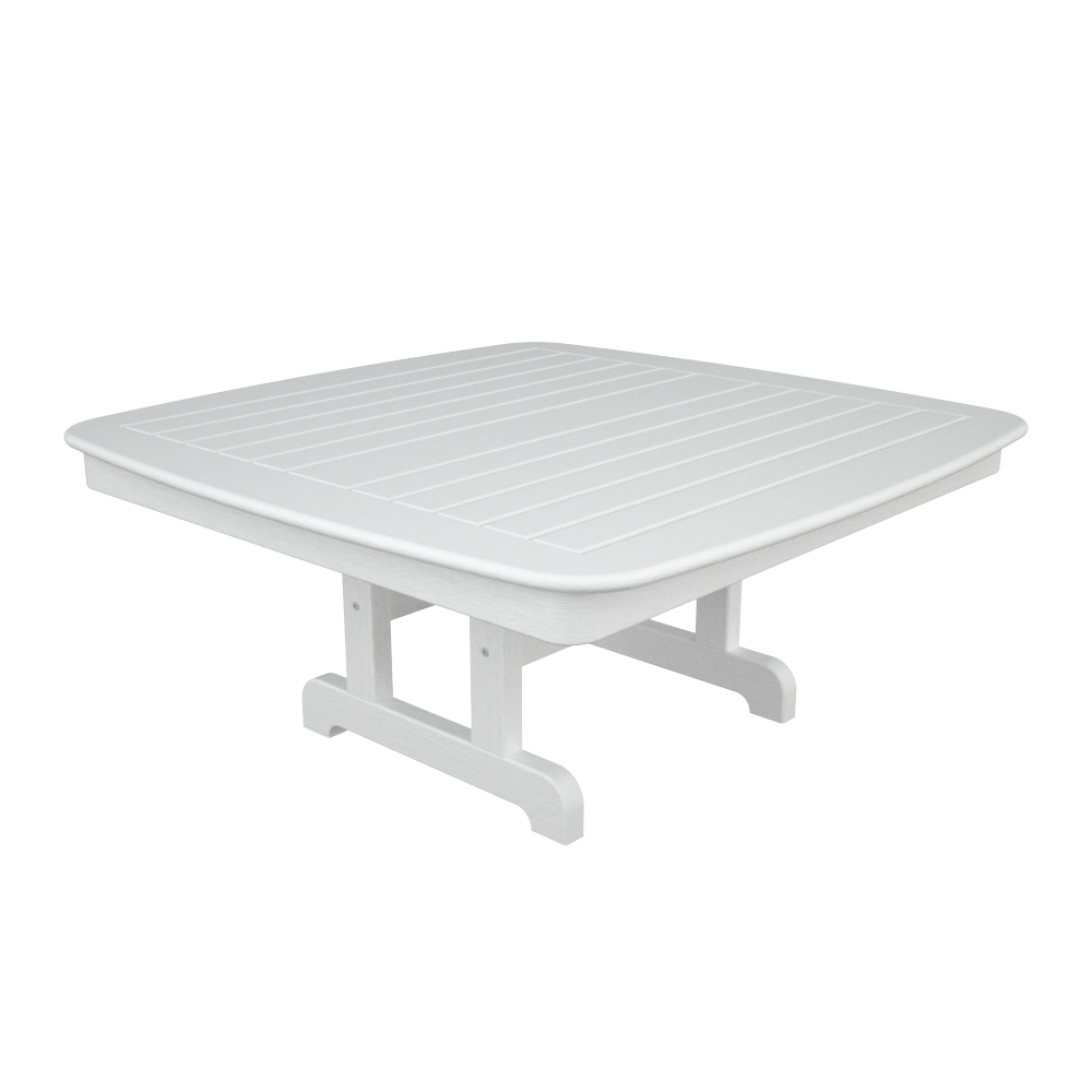POLYWOOD Nautical Inch Square Conversation Table NCCT - 44 inch square coffee table