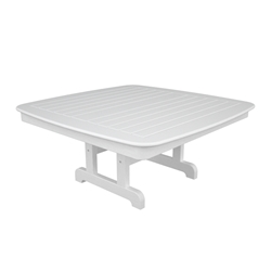 PolyWood Nautical 44 inch Square Conversation Table - NCCT44