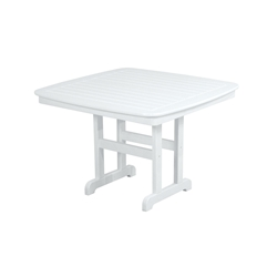 PolyWood Nautical 44 inch Square Dining Table - NCT44