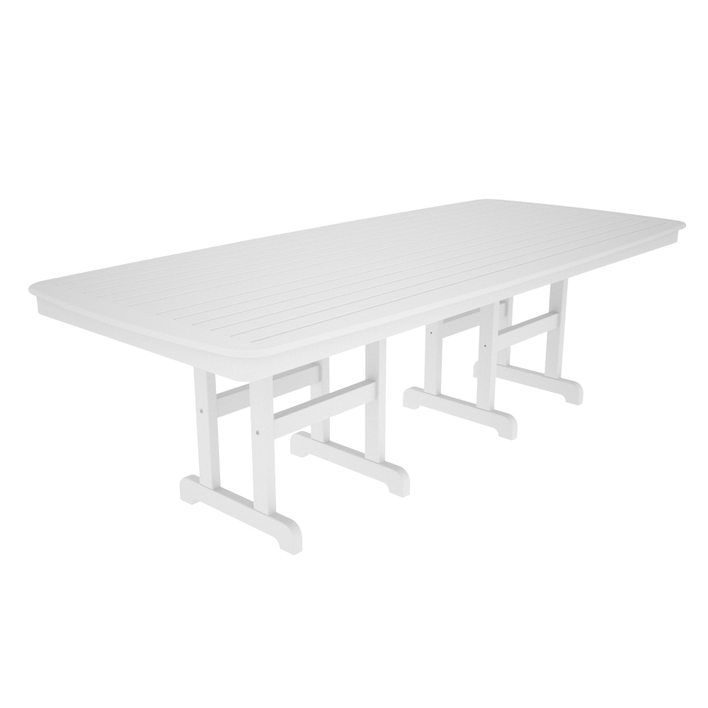 polywood nautical 44 inch by 96 inch dining table nct4496