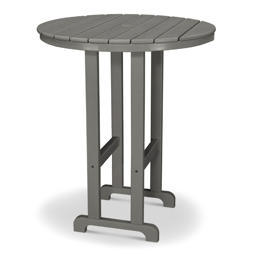 Polywood 36 Inch Round Bar Table Rbt236