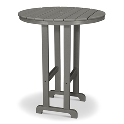 PolyWood 36 inch Round Bar Table - RBT236