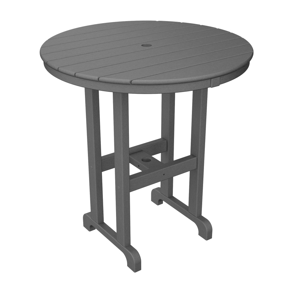 PolyWood 36 inch Round Counter Table - RRT236