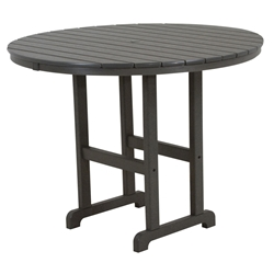 PolyWood 48 inch Round Counter Table - RRT248