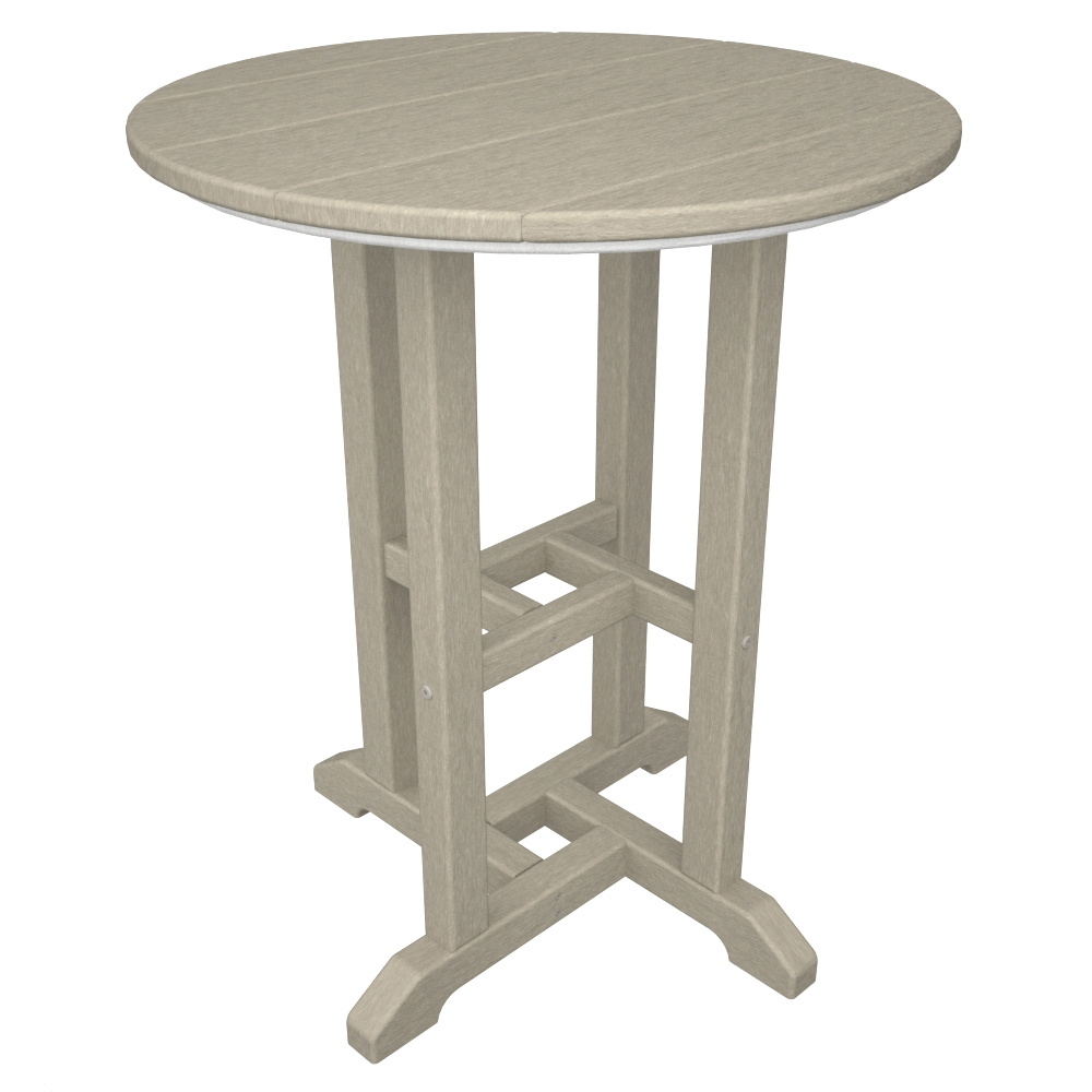 Polywood 174 Traditional 24 Inch Round Dining Table Rt124