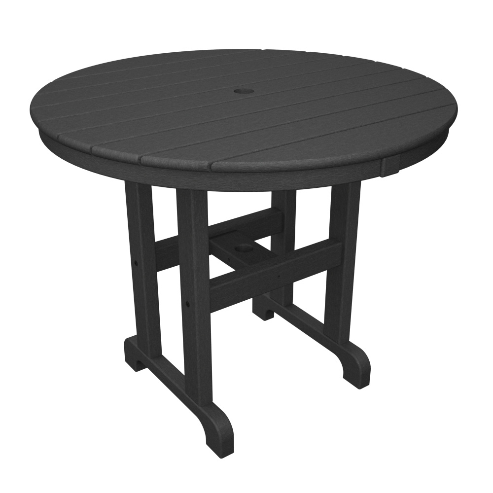 PolyWood 36 Inch Round Dining Table   RT236