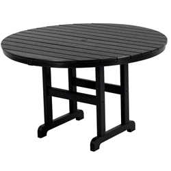 PolyWood 48 inch Round Dining Table - RT248
