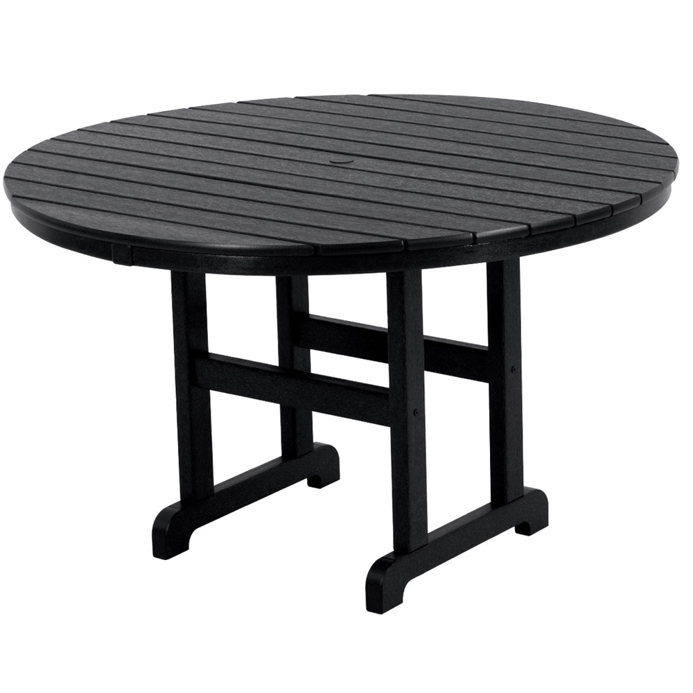 48 Inch Table Round Part - 29: PolyWood 48 Inch Round Dining Table - RT248 ...