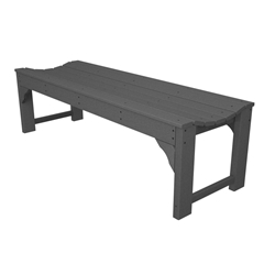 PolyWood Traditional Garden 60 inch Backless Bench - BAB160
