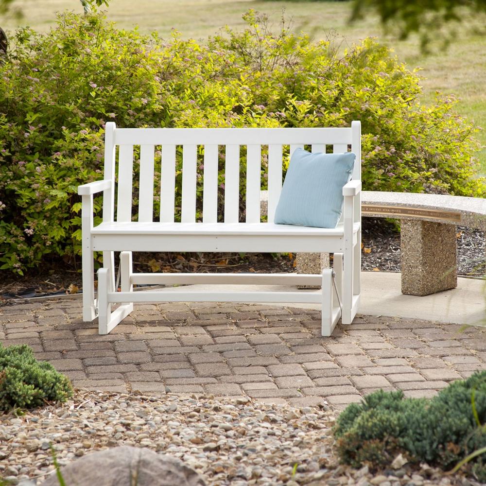 traditional garden 48 inch glider tgg48 - Garden Furniture Traditional