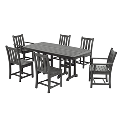 PolyWood Traditional Garden 7 Piece Dining Set - PW-TGARDEN-SET3