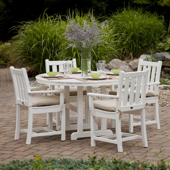 PolyWood Traditional Garden 5 Piece Dining Set - PW-TRADITIONALGARDEN-SET1