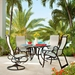 Telescope Casual Aruba II Sling High Back Patio Dining Set