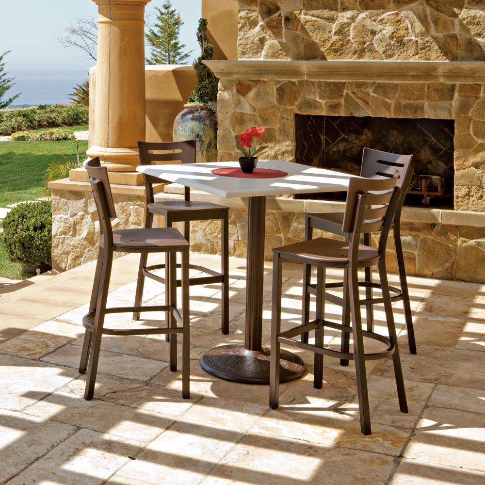 Telescope Casual Avant Stacking Outdoor Bar Chair · Telescope Casual Avant Outdoor  Bar Set ...