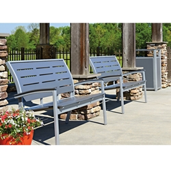Telescope Casual Bazza MGP and Aluminum 2 Piece Stacking Bench Set - TC-BAZZA-SET8