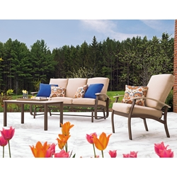 Telescope Casual Belle Isle Cushion 3 Piece Patio Sofa Set - TC-BELLEISLE-SET02