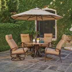 Telescope Casual Belle Isle 5 Piece Patio Dining Set with Oversized Chairs - TC-BELLEISLE-SET05