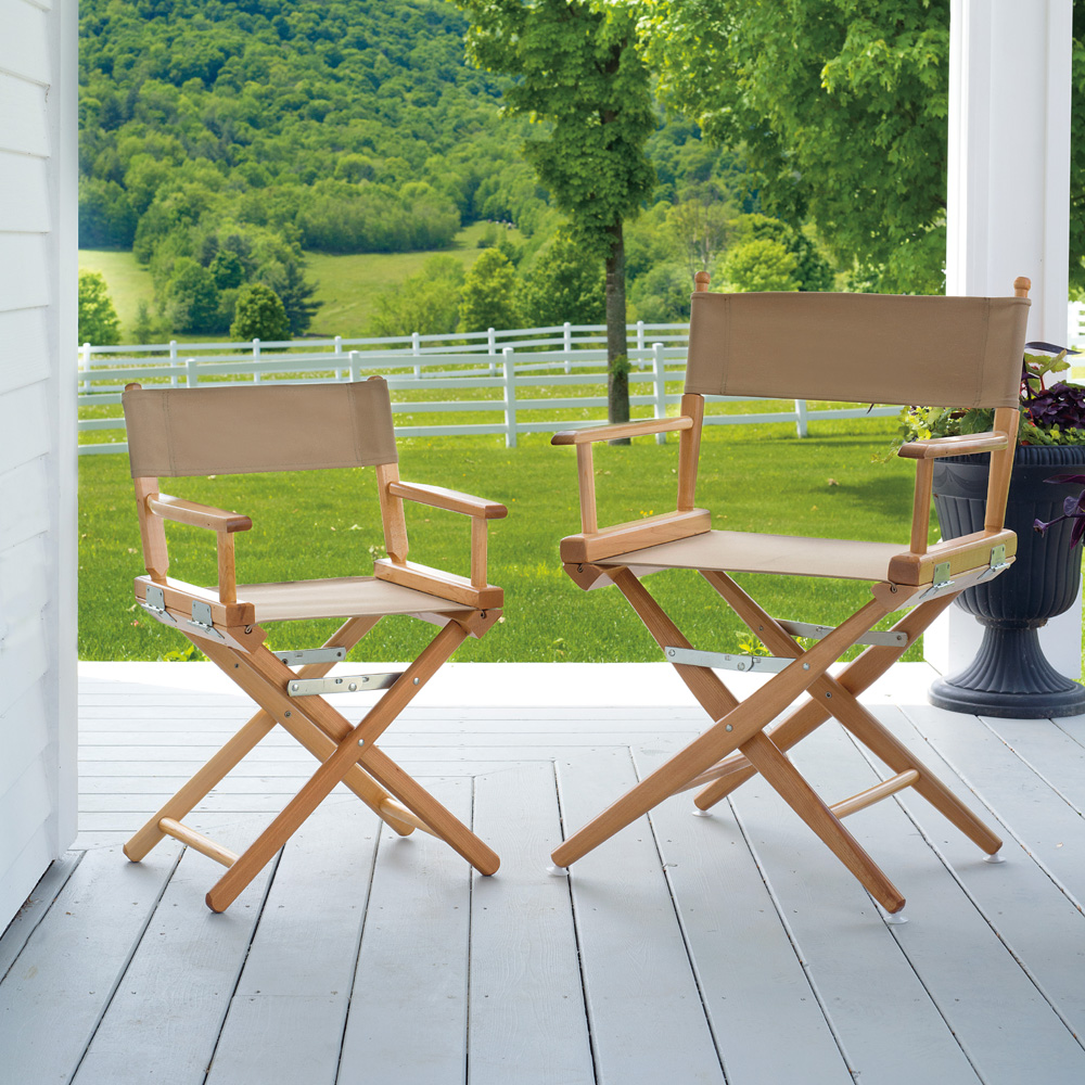 l director tables p black set chair in canvas chairs mgp bdc h w folding bamboo of