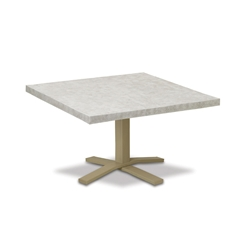 "Telescope Casual Elements 42"" Square Chat Table with Pedestal Base - TE20-1X20"