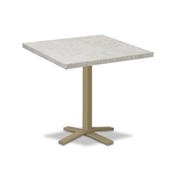 "Telescope Casual Elements 42"" Square Balcony Table with Pedestal Base - TE20-3X20"