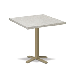 "Telescope Casual Elements 42"" Square Bar Table with Pedestal Base - TE20-4X20"