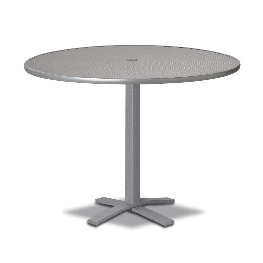 "Telescope Casual Embossed Aluminum 42"" Round Bar Table with Pedestal Base - T900-EA0-4X20"