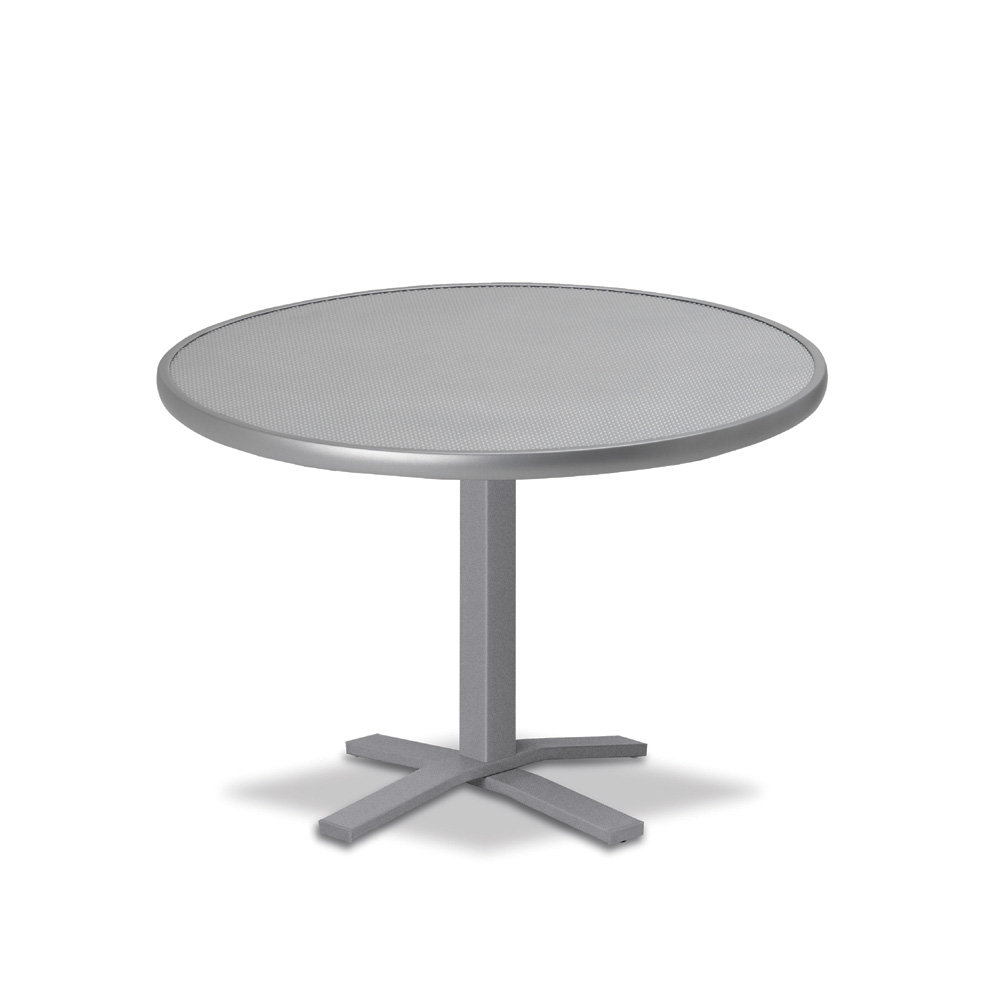 "Telescope Casual Embossed Aluminum 30"" Round Chat Table  - T980-EA0-1X20"