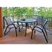 "30"" Round Embossed Aluminum Dining Table - T980EAO-2W20LEG"