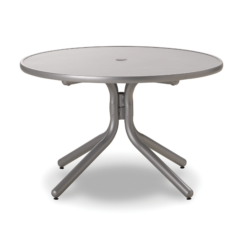 Telescope Casual 36 Inch Round Embossed Aluminum Umbrella Chat Table - T960EAO-1W50LEG