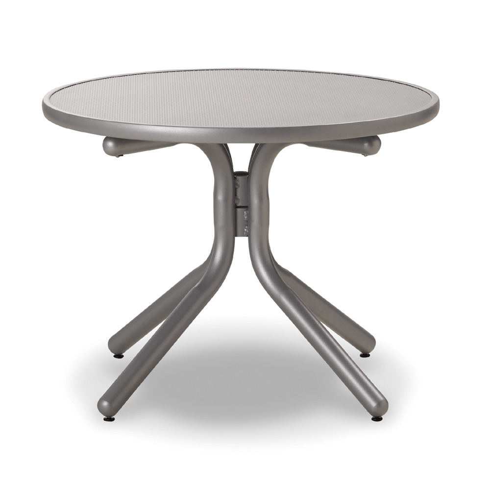 Telescope Casual 30 Inch Round Embossed Aluminum Chat Table - T980EAO-1W20LEG