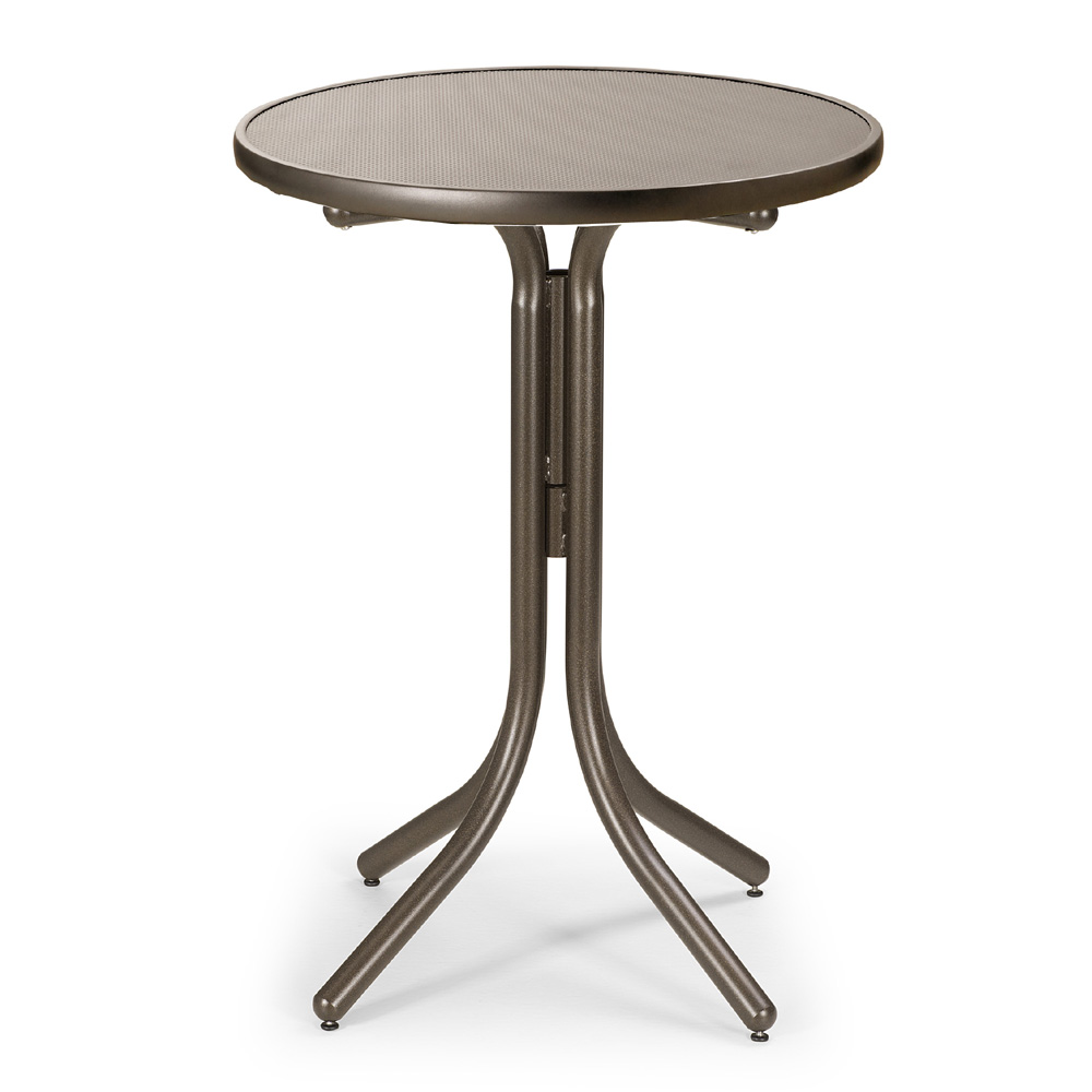 Telescope Casual 30 Inch Round Embossed Aluminum Bar Height Table - T980EAO-4W20LEG