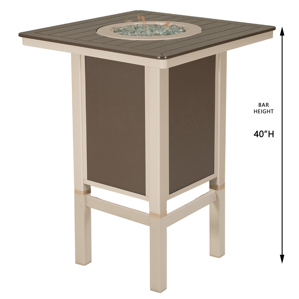 Telescope Casual Bar Height Fire Table