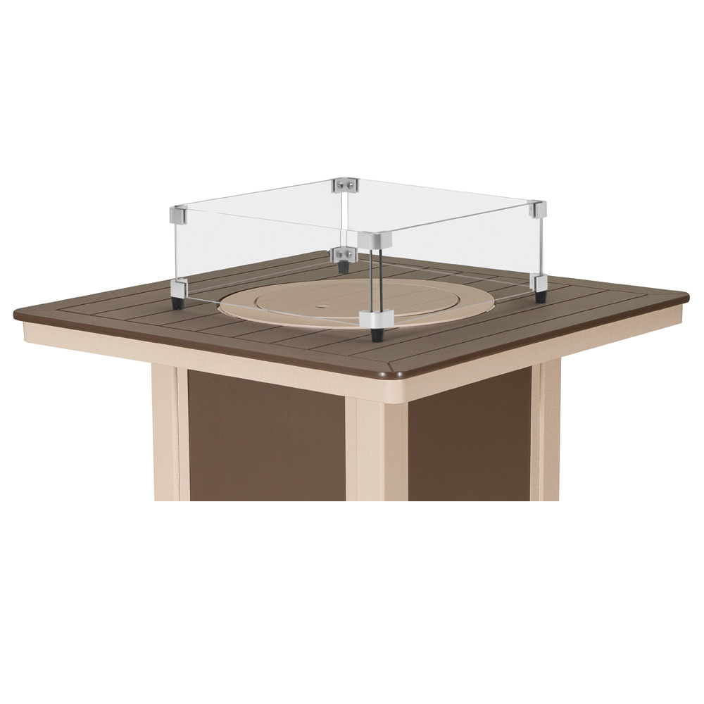 Telescope Casual Glass Surround For 32 Inch Square MGP Top Fire Table    3F60 GLS