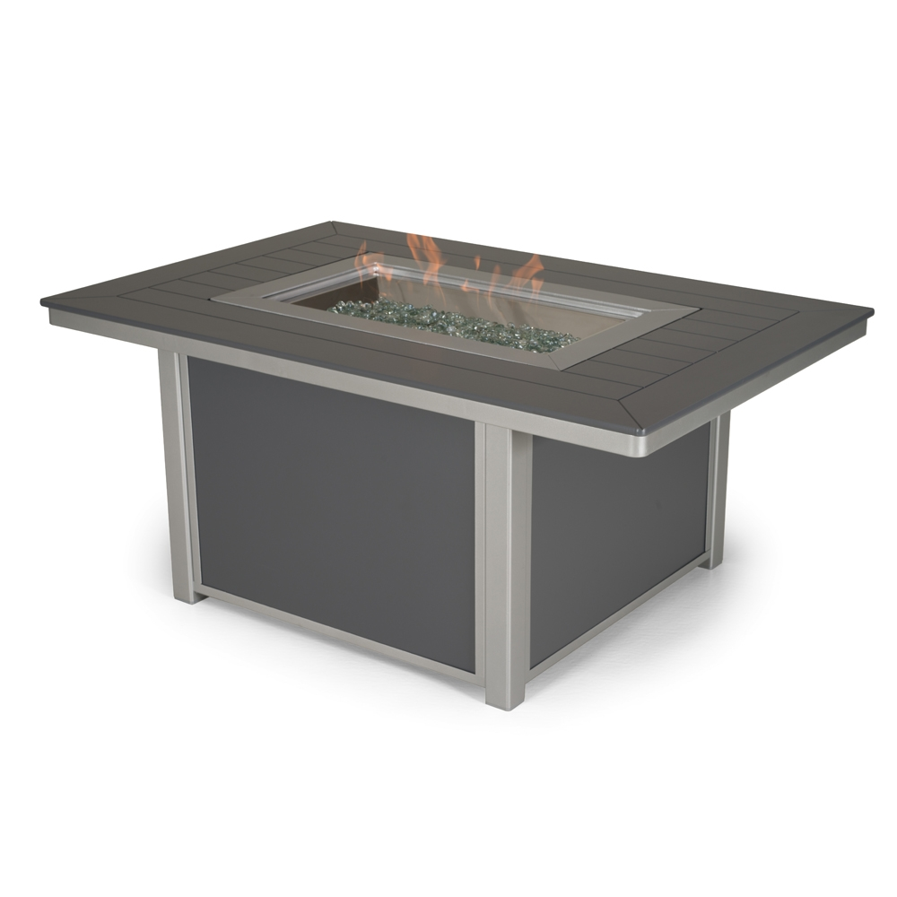 Telescope Casual 36 Inch By 54 Inch Rectangular Fire Pit Table   4F10