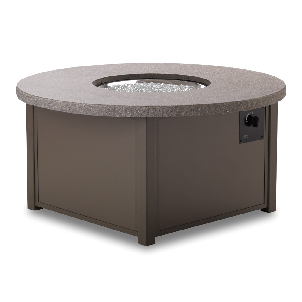 Telescope Casual 48 Inch Round Synthestone Top Fire Table   4F90 ...