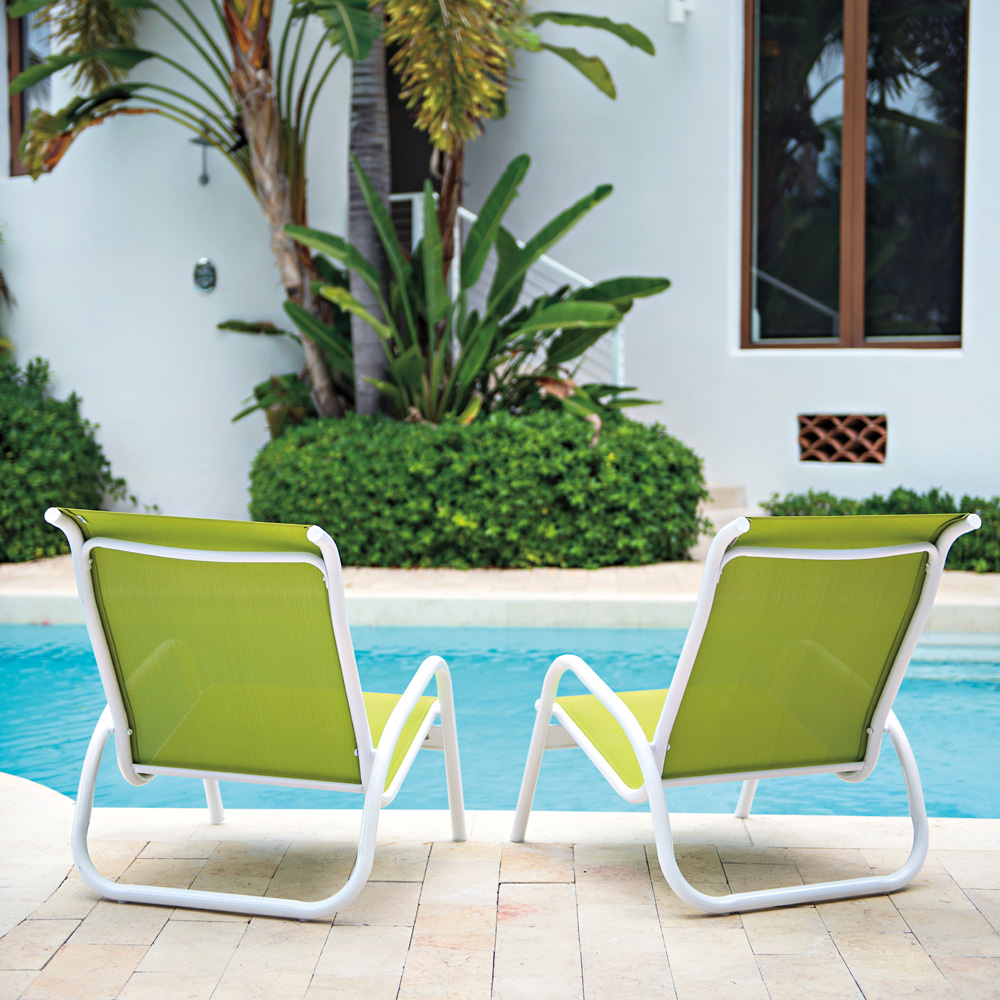 Telescope Casual Gardenella Sling Stacking Poolside Chair