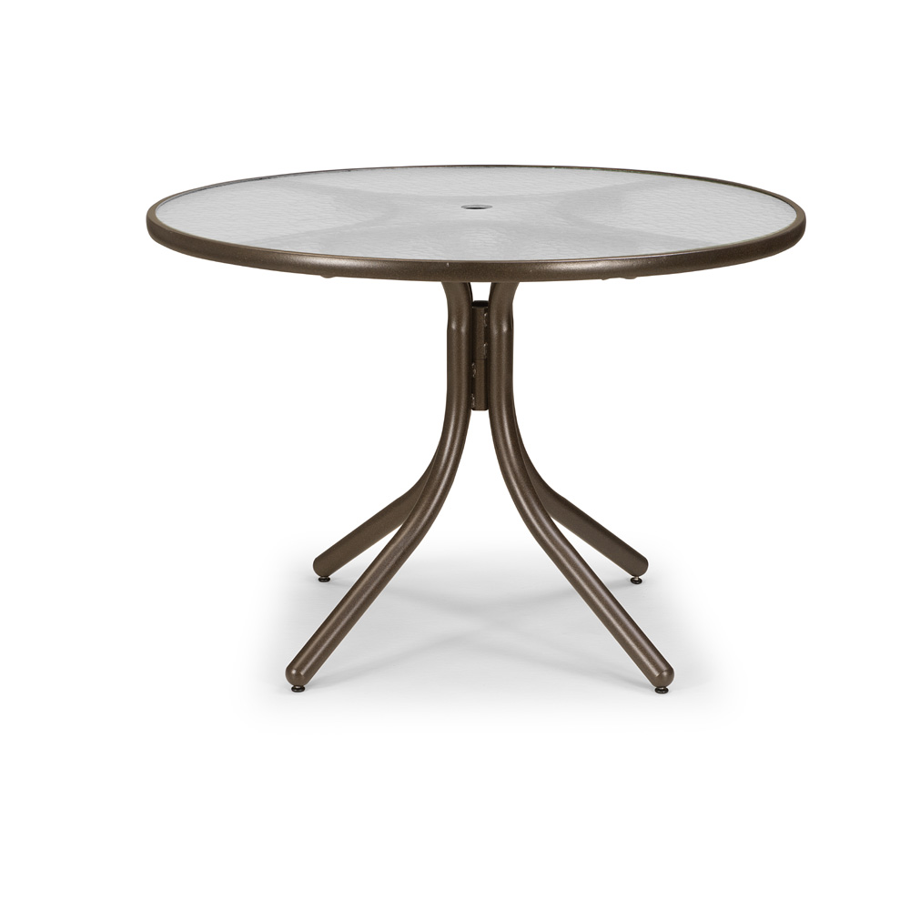 """Telescope Casual 42"""" Round Dining Table with Glass Top"""