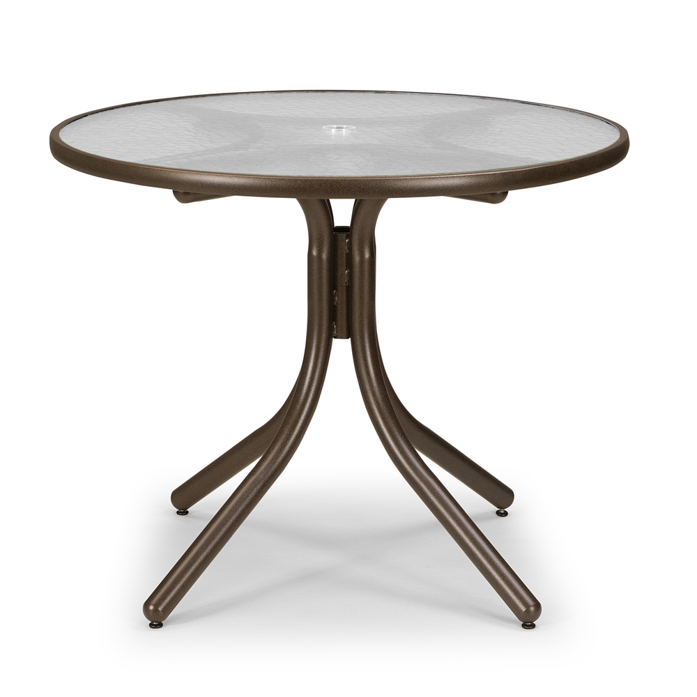 "36 Inch Round Glass Coffee Table: Telescope Casual 36"" Round Dining Table With Glass Top"