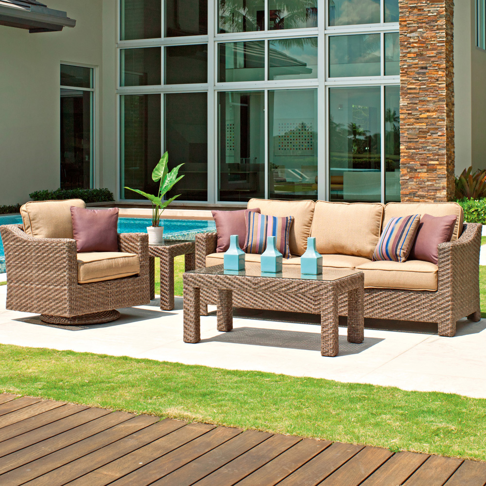 Telescope Casual Lake Shore 4 Piece Patio Set - TC-LAKESHORE-SET1