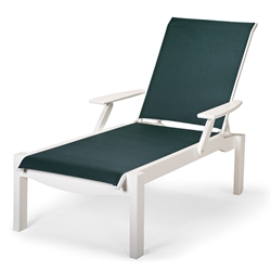 Telescope Casual Leeward Chaise Lounge with Arms - 9400-ARM