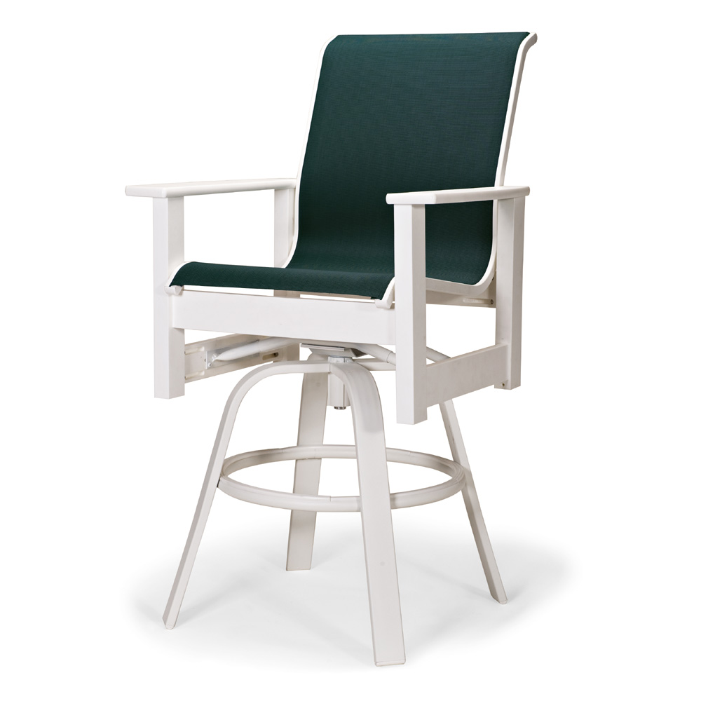 Leeward MGP Sling Counter Height Swivel Arm Chair