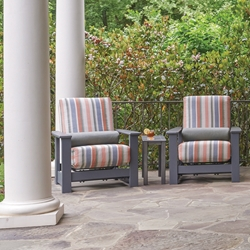 Telescope Casual Leeward Cushion 3-Piece Motion MGP Lounge Chair Patio Set - TC-LEEWARD-SET14