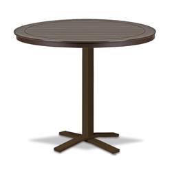 "Telescope Casual Marine Grade Polymer 42"" Round Bar Table with Pedestal Base - T120-4X20"