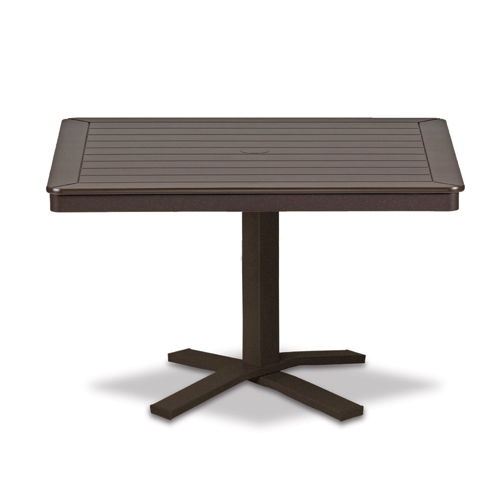 "Telescope Casual Marine Grade Polymer 32"" Square Chat Table with Pedestal Base - T150-1X20"